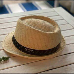Panama Jack Men's Striped Fedora EUC Large